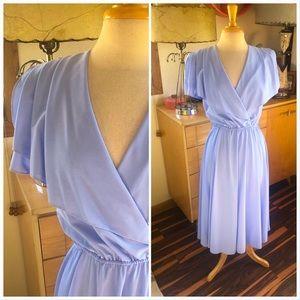 Vintage 1940s Style Dress Faux Wrap Rockabilly 40s